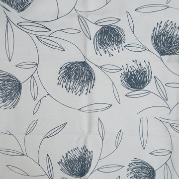 Grey Pincushion Whirl Print on Cream Fabric per Meter - KNUS