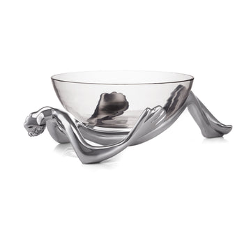Reclining Glass Bowl & Stand - KNUS