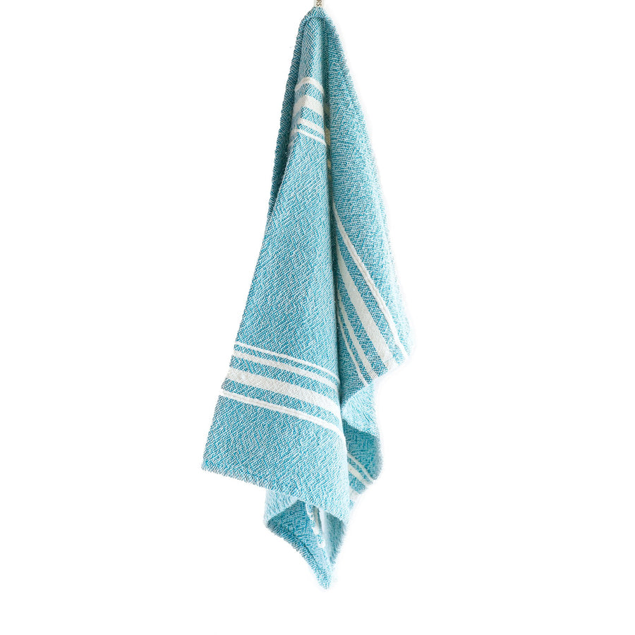 African Contemporary Tea Towel Teal - KNUS