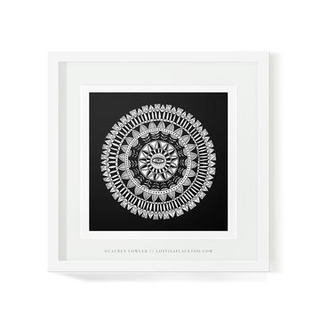 Mandala Eye Art Print - KNUS