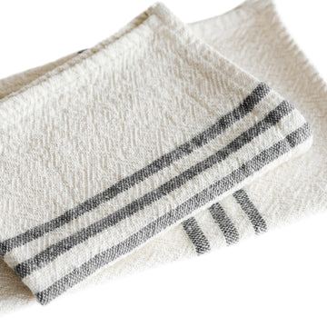 French Country Hand Towels Charcoal - KNUS