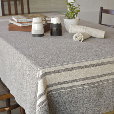African Contemporary Table Cloth Charcoal - KNUS
