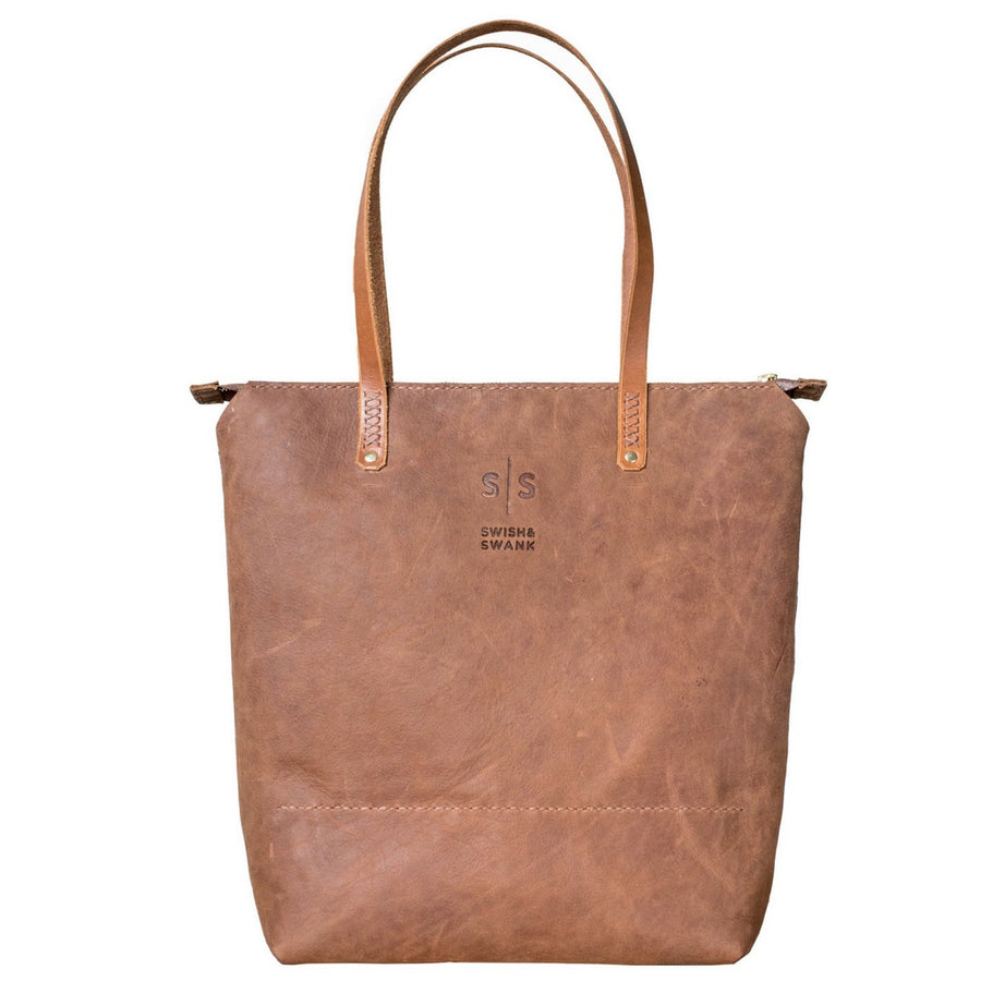 Zipped Ruth Tote Handbag - KNUS
