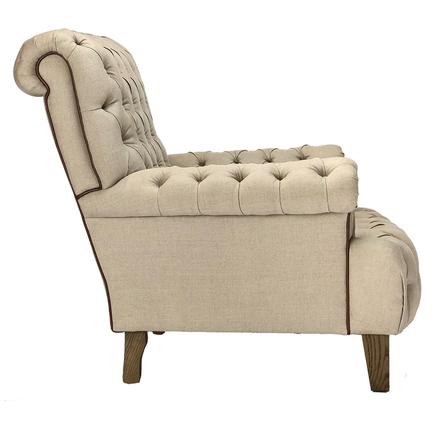 Linen Deep Button Chair