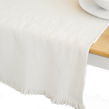 French Country Table Runner Natural - KNUS
