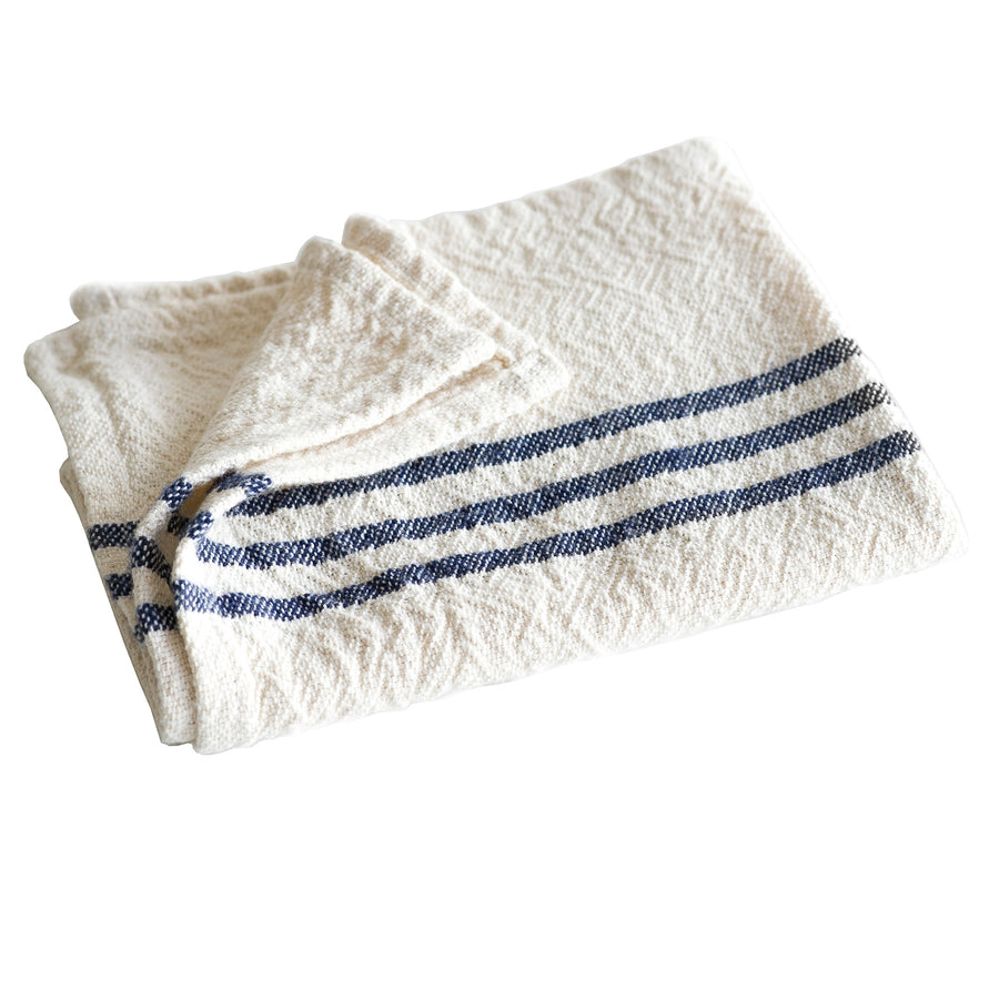 French Country Hand Towels Navy - KNUS