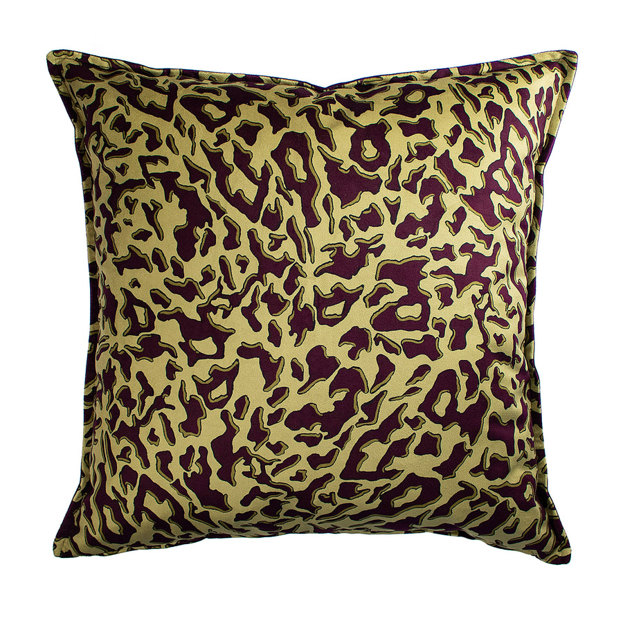 Gold Leopard Velvet Scatter Cushion - KNUS