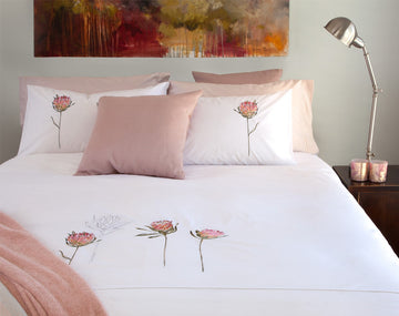Protea White Duvet Cover Set - KNUS