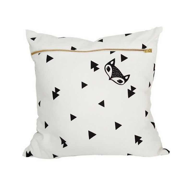 Fox & Triangle Scatter Cushion