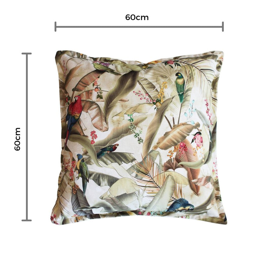 Macaw Parchment Scatter Cushion