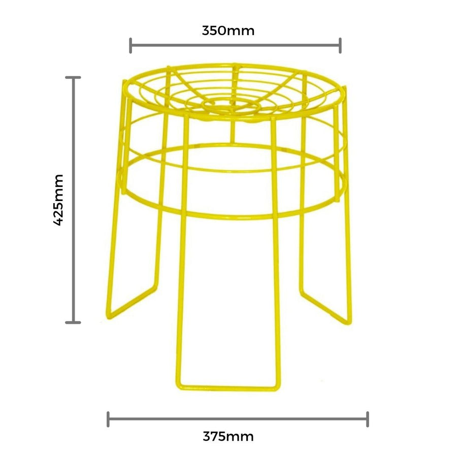 Yellow Wire Stool