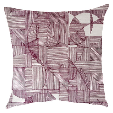 Plum GEO Circle Scatter Cushion - KNUS