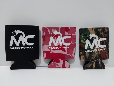 *NEW* Black, Pink Camo, and Natural Camo Koozies