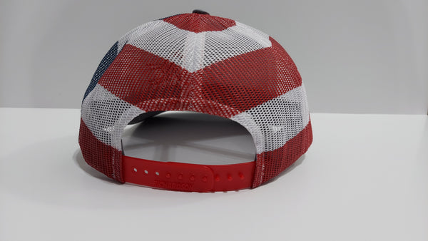 *NEW* Gray, Red, White and Blue Hat - Red Logo