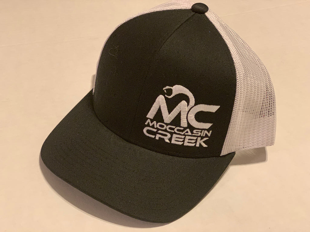 Moccasin Creek White Logo Cap