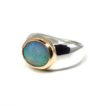 Gold Bezel Grey Opal 3