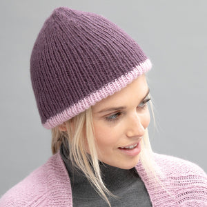 728 Elliot Unisex Ribbed Reversible Beanie in 2 Styles Pattern