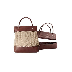 Knitpro Hand Block Printed Fabric Bag 12016 - Brown