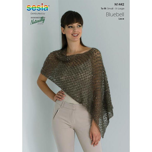 N1442 Sequinned Lace Poncho Pattern