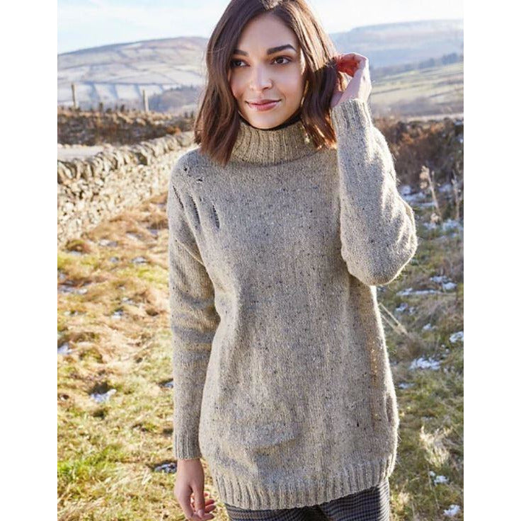 Rowan Millthorpe Women's Longline Sweater Pattern