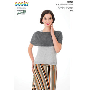 N1409 Sesia Jeans Women's Vest and Poncho pattern