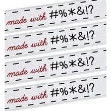 Sublime Stitching Woven Labels made with #%&!?*