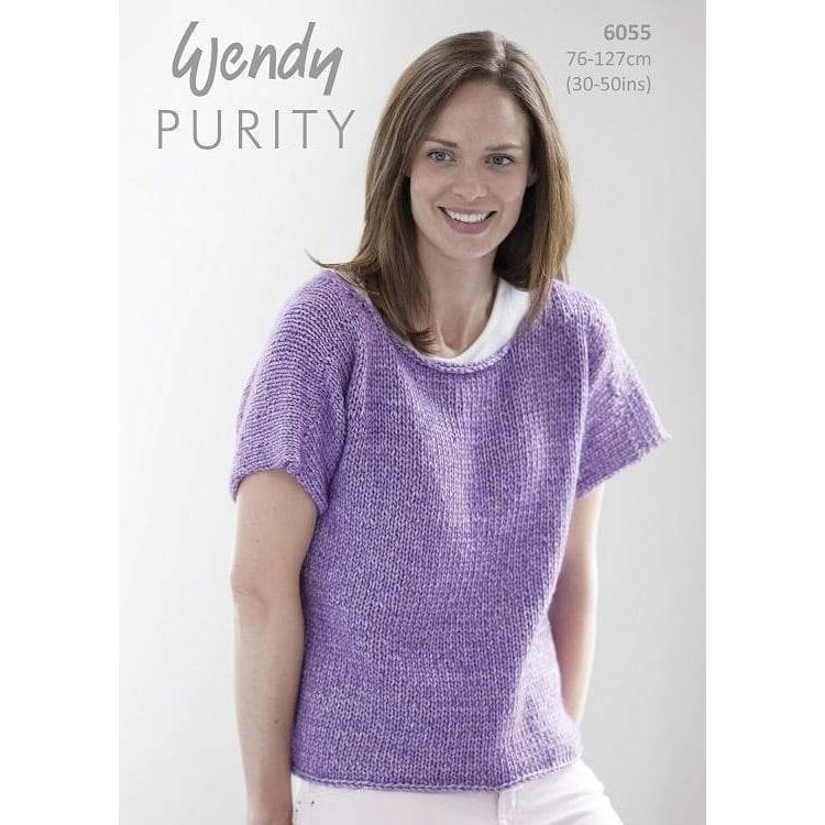 Tee Top Pattern in Wendy Purity 10ply