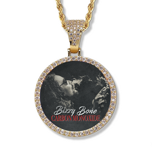 "Bizzy Bone ""Carbon Monoxide"" Round Photo Pendant"