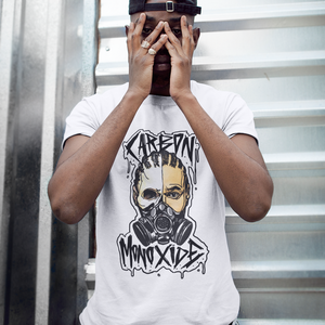 """Carbon Monoxide"" Gas Mask Tee (Black/White)"