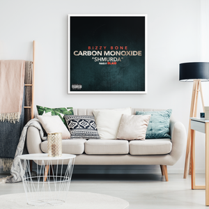 """Carbon Monoxide"" Single Framed Canvas Wall Art"