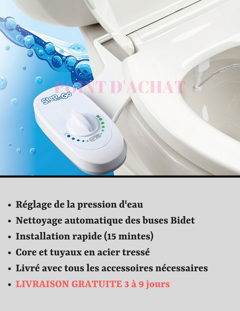 Le kit toilette lavante japonaise pop clean S260