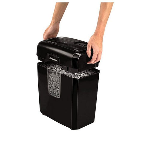 Micro-Cut Paper Shredder Fellowes 8MC 14 L 3 x 10 mm Black