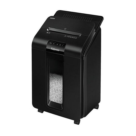Micro-Cut Paper Shredder Fellowes AutoMax100M Black