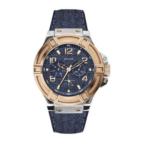 Montre Homme Guess W0040G (45 mm) Couleur or