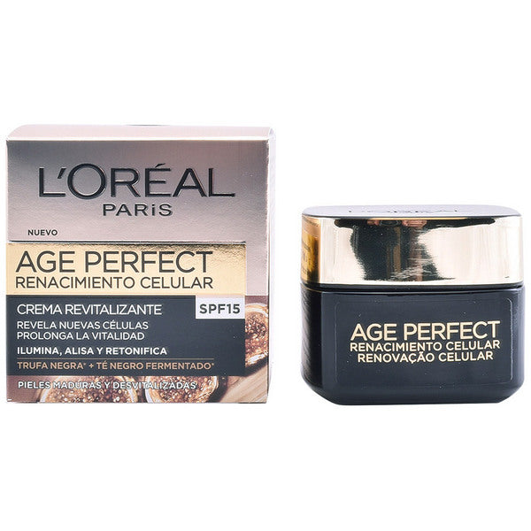 Crème de jour nourrissante Age Perfect L'Oreal Make Up Spf 15 (50 ml)