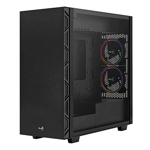 Micro ATX / Mini ITX / ATX Midtower Case Aerocool Flo Saturn RGB USB 3.2 Black