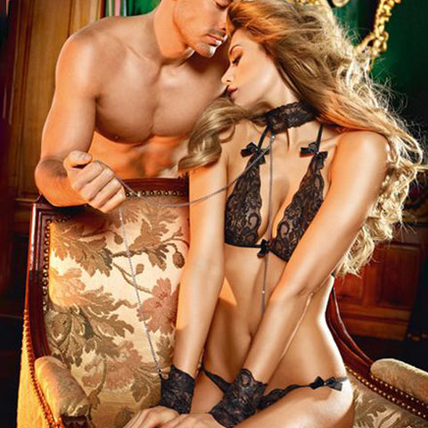 Lace Love Slave Set One Size Baci Lingerie BD1324