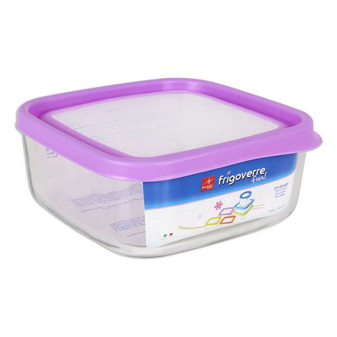 Lunch box Bormioli Fun Glass Squared Fuchsia