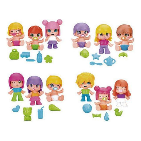 Set of Figures Pinypon Babies Famosa