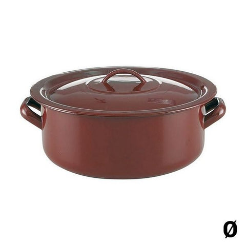 Casserole with lid Quid Classic Enamelled Steel
