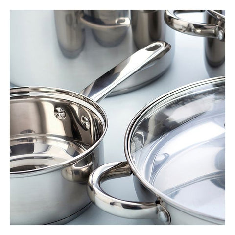 Casserole with glass lid Quid Ottawa Stainless steel