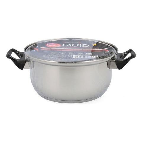 Casserole with glass lid Quid Habitat Stainless steel