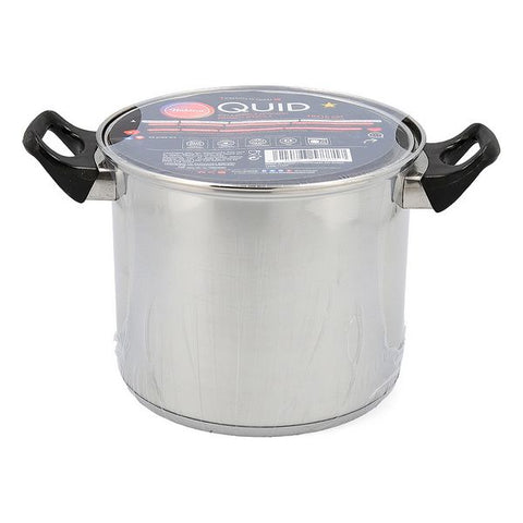 Pot with Glass Lid Quid Habitat Stainless steel