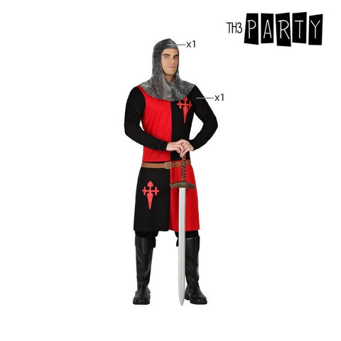 Costume for Adults Knight of the crusades Black Red (2 Pcs)