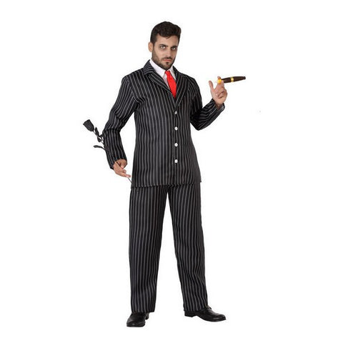 Costume for Adults Gangster Black (4 Pcs)
