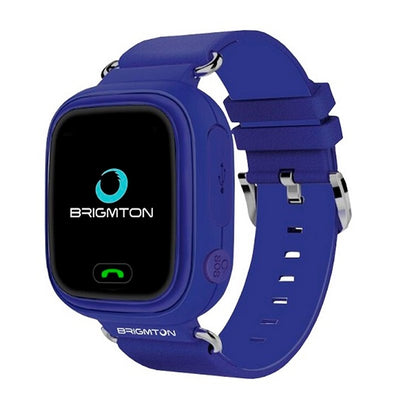 Montre intelligente connectée BRIGMTON BWATCH-KIDS 1,22'''' WIFI GPS bleue