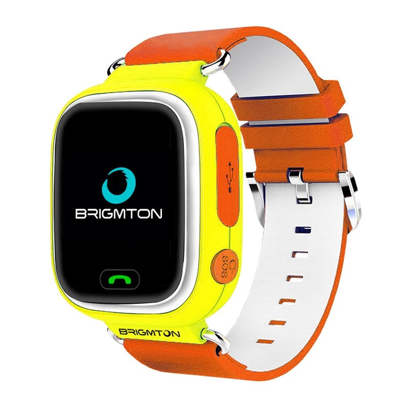Montre intelligente connectée BRIGMTON BWATCH-KIDS 1,22'''' WIFI GPS jaune