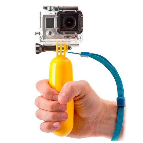 Floating Selfie Stick for Sports Camera KSIX Yellow