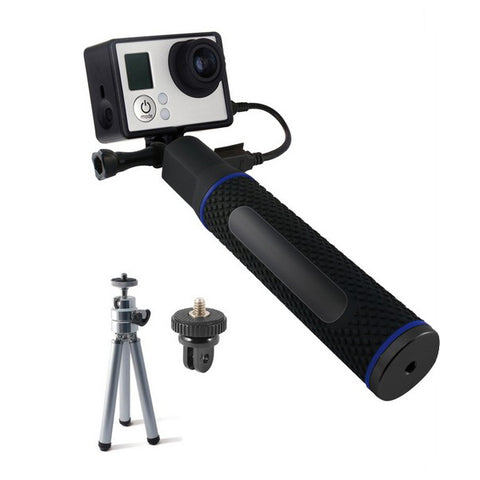 Selfie Stick with Power Bank for Sports Camera KSIX 5200 mAh Black