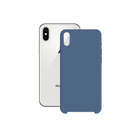Mobile cover Iphone X/xs KSIX Soft Blue
